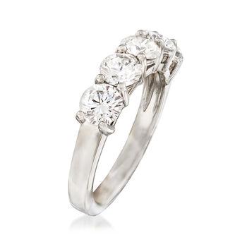 2.00 ct. t.w. Diamond Five Stone Wedding Band in Platinum. Size 6, , default