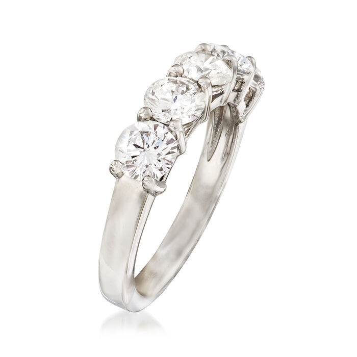 2.00 ct. t.w. Diamond Five Stone Wedding Band in Platinum