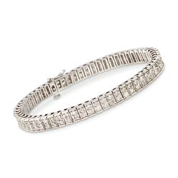 "C. 1990 Vintage 4.00 ct. t.w. Diamond Bracelet in 14kt White Gold. 7"", , default"