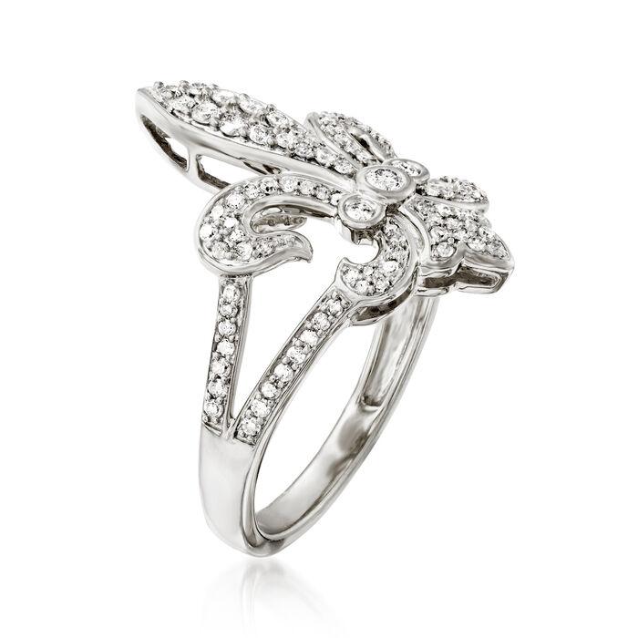 .50 ct. t.w. Diamond Fleur-De-Lis Ring in Sterling Silver
