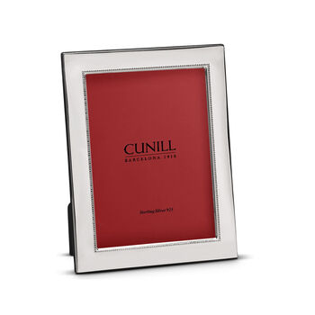Cunill Italian Sterling Silver Beaded Wide Picture Frame, , default