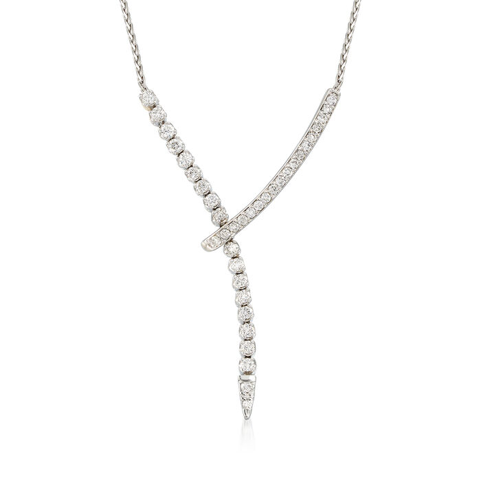 1.5 ct. t.w. Diamond Lariat Necklace in 14k White Gold