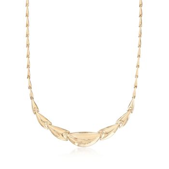 14kt Yellow Gold Graduated Necklace, , default