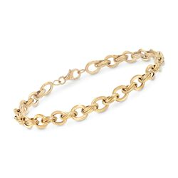 18kt Yellow Gold Oval-Link Bracelet, , default