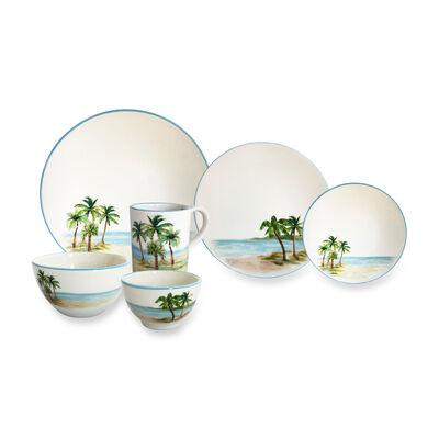 "Abbiamo Tutto ""Palm Breezes"" Ceramic Dinnerware from Italy"