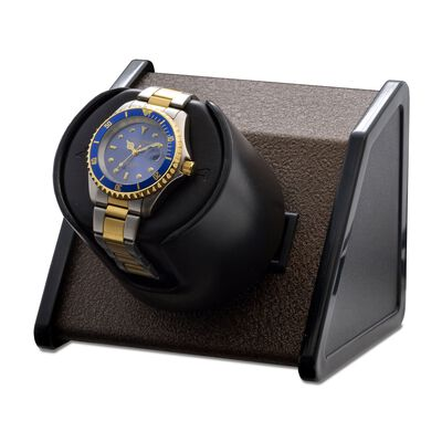 """Sparta"" Brown Single Watch Winder by Orbita, , default"
