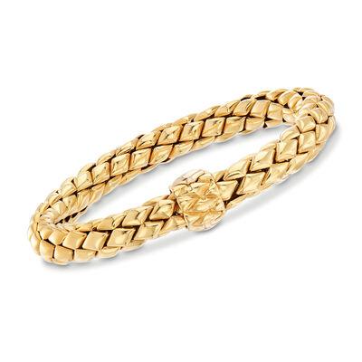 C. 1980 Chimento Mesh Bracelet in 18kt Yellow Gold, , default