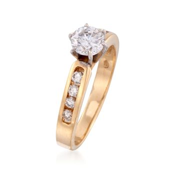C. 1990 Vintage .90 ct. t.w. Diamond Ring in 14kt Yellow Gold. Size 6.5, , default