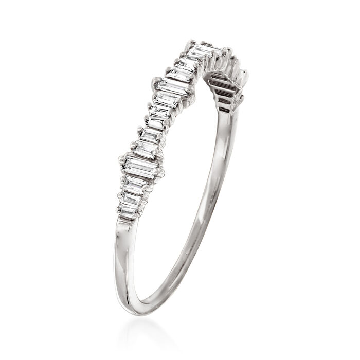 .20 ct. t.w. Baguette Diamond Ring in 14kt White Gold