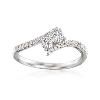 .41 ct. t.w. Diamond Two Stone Ring in 14kt White Gold, , default