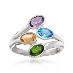 1.80 ct. t.w. Multi-Stone Bypass Ring in Sterling Silver, , default