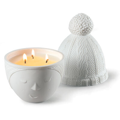 "Lladro ""Winter Lee"" Porcelain Candle"
