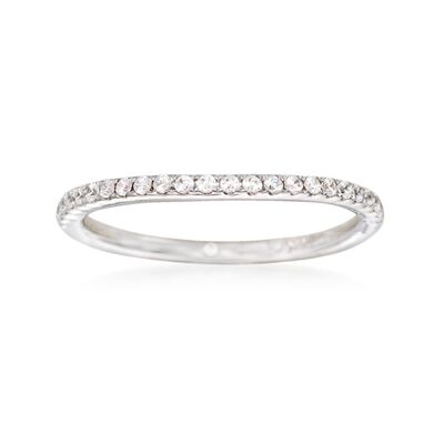 Gabriel Designs .18 ct. t.w. Diamond Wedding Ring in 14kt White Gold, , default
