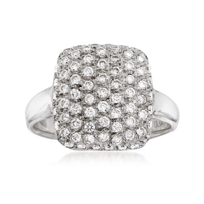 C. 1970 Vintage .55 ct. t.w. Diamond Cluster Ring in 14kt White Gold, , default