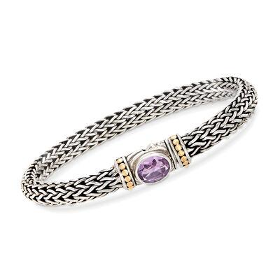 1.70 Carat Amethyst Tulang Naga Bracelet in Sterling Silver, , default