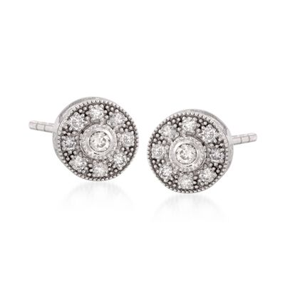 "ALOR ""Flamme Blanche"" .45 ct. t.w. Diamond Stud Earrings in 18kt White Gold  , , default"