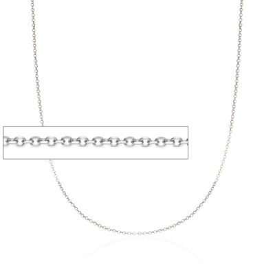 1.5mm 14kt White Gold Diamond-Cut Cable Chain Necklace, , default