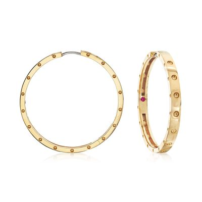 "Roberto Coin ""Symphony Pois Moi"" 18kt Yellow Gold Large Hoop Earrings, , default"