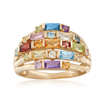 1.50 ct. t.w. Multi-Stone Cluster Ring in 14kt Yellow Gold, , default