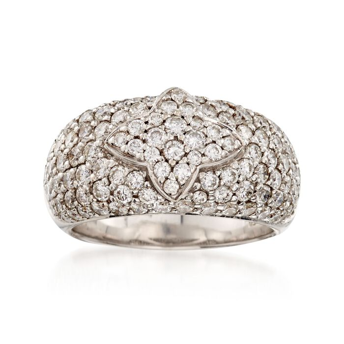 C. 1990 Vintage 2.50 ct. t.w. Pave Diamond Ring in 18kt White Gold. Size 6.5, , default