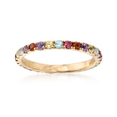 .70 ct. t.w. Multi-Stone Eternity Band in 14kt Yellow Gold, , default
