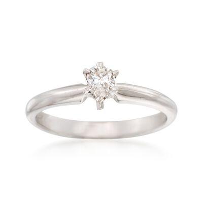 C. 2000 Vintage .25 Carat Diamond Ring in 14kt White Gold, , default