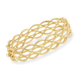 "Roberto Coin ""Barocco"" 18kt Yellow Gold Braided Bangle Bracelet. 7"", , default"