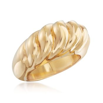 Andiamo 14kt Yellow Gold Shrimp Ring. Size 5, , default