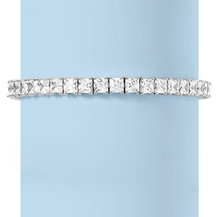16.00 ct. t.w. Princess-Cut CZ Tennis Bracelet in Sterling Silver