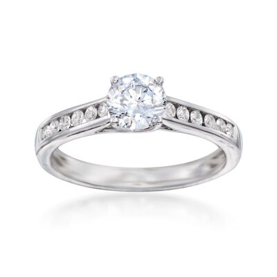 .23 ct. t.w. Diamond Engagement Ring Setting in 14kt White Gold, , default