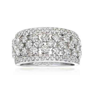 C. 2000 Vintage Crivelli 1.71 ct. t.w. Diamond Ring in 18kt White Gold