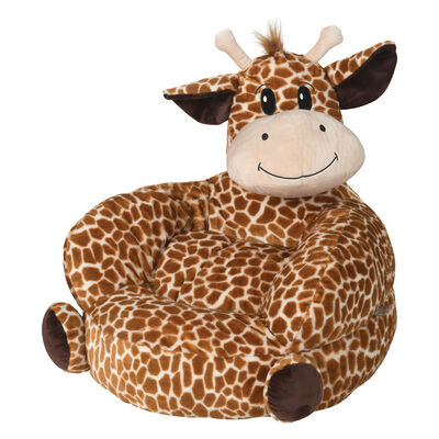 Children's Plush Giraffe Chair, , default