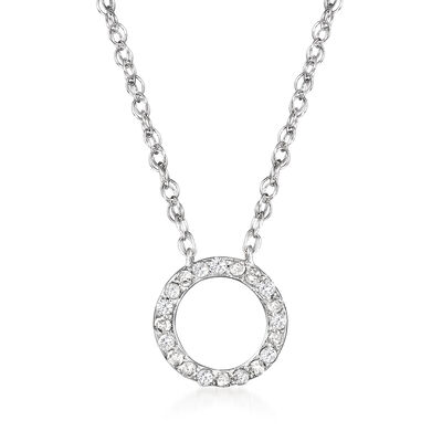.10 ct. t.w. Diamond Open-Circle Necklace in Sterling Silver