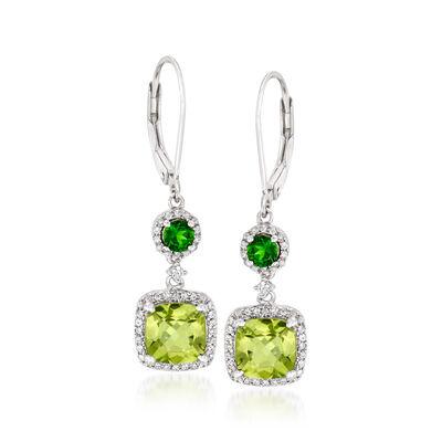 3.84 ct. t.w. Multi-Gemstone Drop Earrings in Sterling Silver, , default