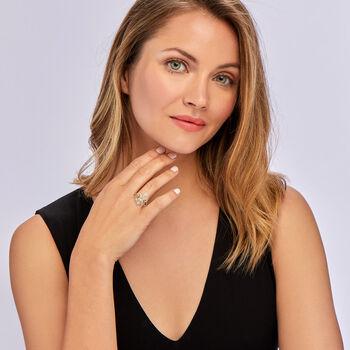 .50 ct. t.w. Diamond Fleur-De-Lis Ring in 18kt Gold Over Sterling, , default