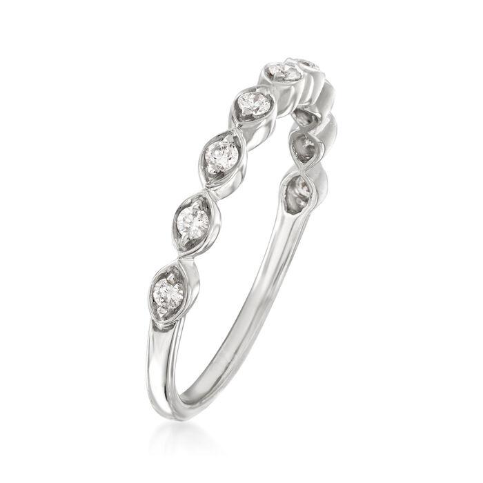 Henri Daussi .17 ct. t.w. Diamond Wedding Ring in 18kt White Gold