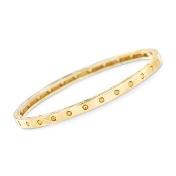 "Roberto Coin ""Symphony"" Pois Moi 18kt Yellow Gold Bangle Bracelet. 7"", , default"