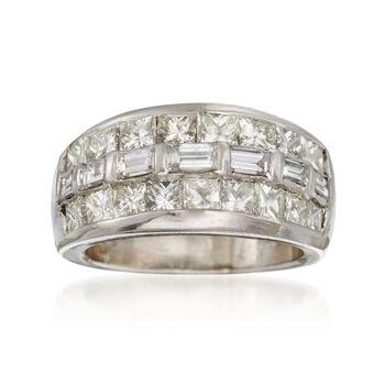 C. 1990 Vintage 2.30 ct. t.w. Diamond Ring in Platinum. Size 5, , default