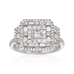Gregg Ruth 1.57 ct. t.w. Diamond Ring in 18kt White Gold, , default