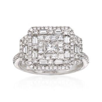 Gregg Ruth 1.57 ct. t.w. Diamond Ring in 18kt White Gold, , default