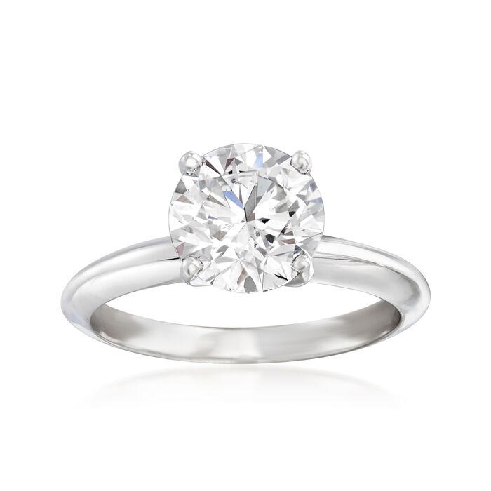 2.00 Carat Certified Diamond Solitaire Engagement Ring in Platinum, , default