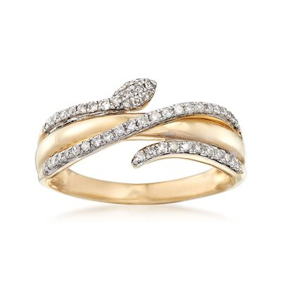 .28 ct. t.w. Diamond Snake Ring in 14kt Yellow Gold