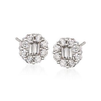 Gregg Ruth .90 ct. t.w. Diamond Stud Earrings in 18kt White Gold, , default