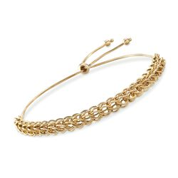 14kt Yellow Gold Multi-Link Bolo Bracelet, , default