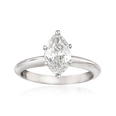 1.14 Carat Diamond Solitaire Ring in 14kt White Gold