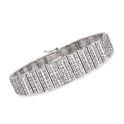 C. 1980 Vintage 5.19 ct. t.w. Diamond Graduated Bracelet in Platinum