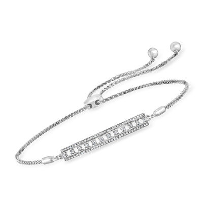 .20 ct. t.w. Diamond Bar Bolo Bracelet in Sterling Silver