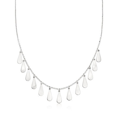 Italian Sterling Silver Teardrop Necklace