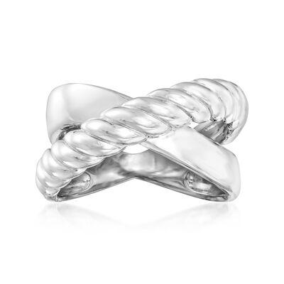 Sterling Silver X Design Ring