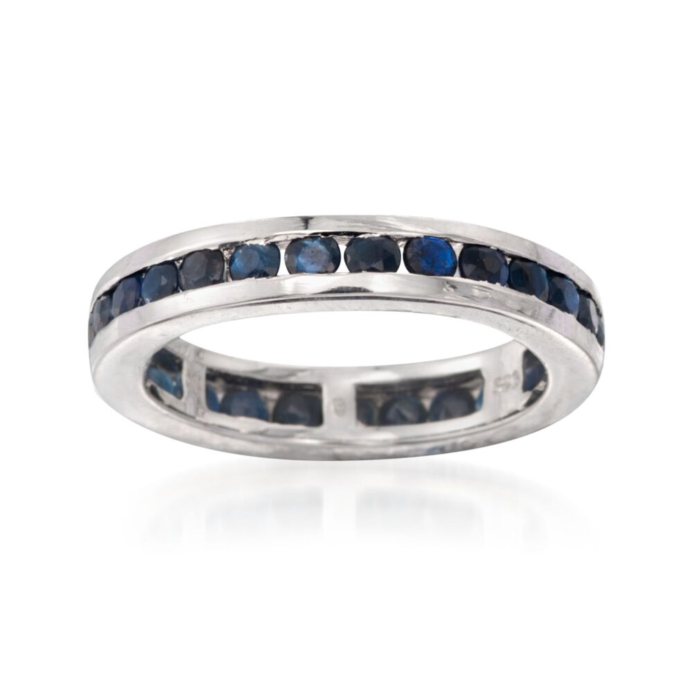 2eced5f7c 2.30 ct. t.w. Channel-Set Sapphire Eternity Band in Sterling Silver, ,  default